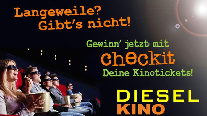 checkit, Dieselkino, Gewinnspiel, Gratistickets, Kino, Jugendkarte, Lichtbildausweis, Dieselkino